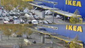 Parkoviště před supermarkety praskají obvykle ve švech, v pátek se z nich však stala města duchů!
