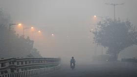 Obyvatelé Dillí se dusí. Hustou vrstvu smogu způsobily z velké části ohňostroje.
