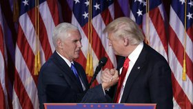 Nový americký prezident Donald Trump a jeho vicepreziodent Mike Pence