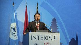 Meng Chung-wej krátce po svém zvolení šéfem Interpolu