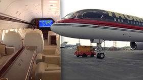 Luxusní Trumpovo letadlo