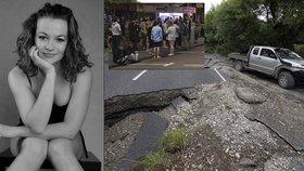 Češka Lenka popsala zemětřesení na Novém Zélandu.