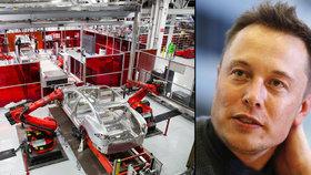 U Elona Muska v Tesle se bude propouštět, o místo přijdou více jak tři tisícovky lidí.