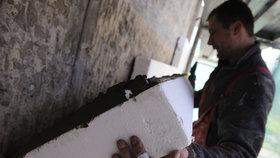 Polystyren se často používá k zateplení domů.