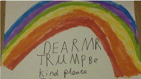 Děti píší Donaldu Trumpovi.
