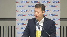 Konference Okamurovy SPD v Praze na Pankráci