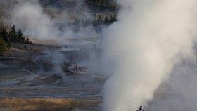 Yellowstonský národní park, oblast poblíž Norrisova gejzíru