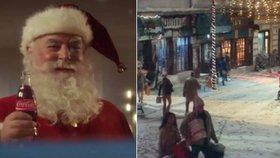 Vánoční reklamní spot Coca-Coly se natáčel v Nebušicích, Lounech a Lokti.