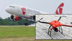 Drony ohrožují letadla i v Česku.