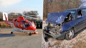 Při vážné dopravní nehodě se těžce zranila holčička (5).