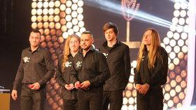 Druhé místo v kategorii skupin získal Ortel.