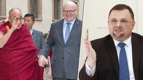 Setkáním s dalajlámou si to Herman u hradních pánů zavařil. Přitom to podle něj byl Forejt, kdo za ním chodil s žádostí o pomoc.
