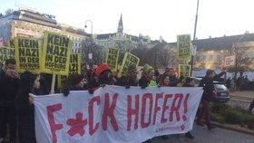 Sobotní demonstrace proti Norbertu Hoferovi v centru Vídně