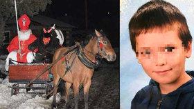 Lukášek přišel poté, co ho podupali koně, o slezinu.