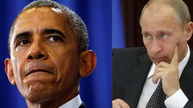 Prezidenti USA Barack Obama (vlevo) a Vladimir Putin