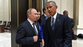 Barack Obama s ruským prezidentem Vladimirem Putinem