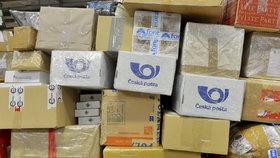 Poštovní třídírna v Malešicích je před Vánoci extrémně vytížená.