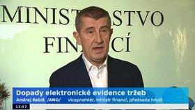 Andrej Babiš hájil EET, prý funguje bez problémů a za potíže hospod nemůže.