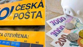 Zaměstnanci České pošty si připnou trikoloru na protest proti nízké úhradě nákladů na služby.