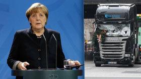 Angela Merkelová komentovala poprvé teror v Berlíně, kde uprchlík najel kamionem do lidí na váčních trzích.