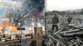 Výbuch zlikvidoval tržnici v Mexico City.
