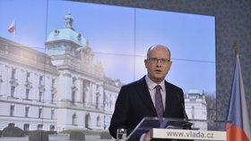 Premiér Bohuslav Sobotka (ČSSD) promluvil o prioritách vlády do konce funkčního období.