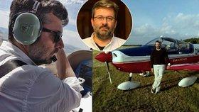 Náměstek ministra průmyslu a obchodu Mládka Vladimír Bärtl je velký fanoušek létání.
