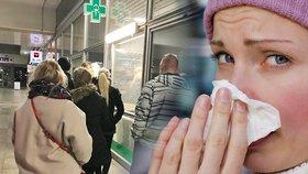 Česko zasáhla epidemie chřipky.