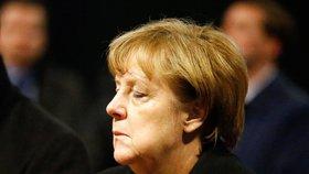 Německá kancléřka Angela Merkelová po teroristickém útoku na vánoční trh v Berlíně