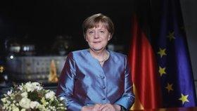 Německá kancléřka Angela Merkelová v předtočeném novoročním projevu