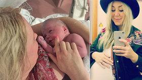 Žena svůj porod vysílala živě přes Facebook: Měla sledovanost víc jak 200 000 diváků.
