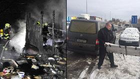 V chatové kolonii v pražské Uhříněvsi uhořel muž.