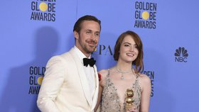Emma Stoneová a Ryan Gosling