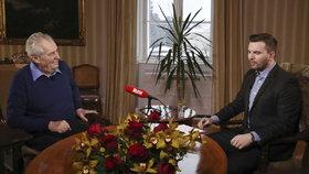 Miloš Zeman v pořadu S prezidentem v Lánech (leden 2017)