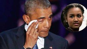 Sasha Obama se nezúčastnila otcova posledního proslovu. Internet se po ní začal ihned shánět.