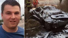 Roman (†17) v mámině autě havaroval ve vysoké rychlosti.