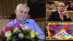 Miloš Zeman oznámí své rozhodnutí kolem prezidentské kandidatury v den, kdy budou v oknech vlát tibetské vlajky a Bohuslav Sobotka zahájí sjezd ČSSD.