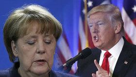 Trump kritizoval Merkelovou, kancléřka svou politikou otevřenosti vůči nelegálním migrantům prý udělala katastrofální chybu.