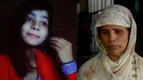 Za upálení dcery Zeenat Rafiq byla její matka Parveen Bibi odsouzena k trestu smrti.
