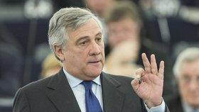 Antonio Tajani, předseda europarlamentu.
