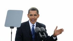 Barack Obama při návštěvě Prahy v dubnu 2009 vystoupil na Hradčanském náměstí