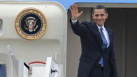 Barack Obama při návštěvě Prahy v dubnu 2009
