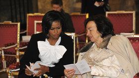 Obamovi v Praze v dubnu 2009: Michelle Obamovou provedla Livia Klausová