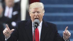 Donald Trump při své první řeči jako prezident Spojených států amerických