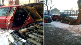 Panika na Rožňavsku: Kamion najel mezi auta. Jeden mrtvý, několik zraněných.