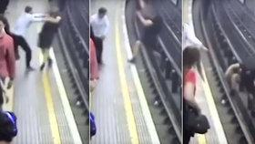 Muž strčil jiného pod metro.