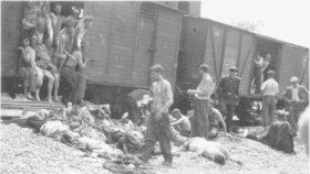 Transport zajatých Židů