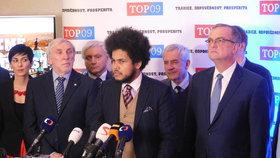 Miroslav Kalousek a jeho tým prezentoval vize Topky, mladé voliče má oslovit Dominik Feri.