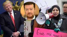 Trumpovy dekrety proti migrantům rozdělily české politiky. Okamura s Trumpem souhlasí