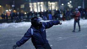 Levicoví radikálové se často uchylují k násilným protestům. (Ilustrační foto)